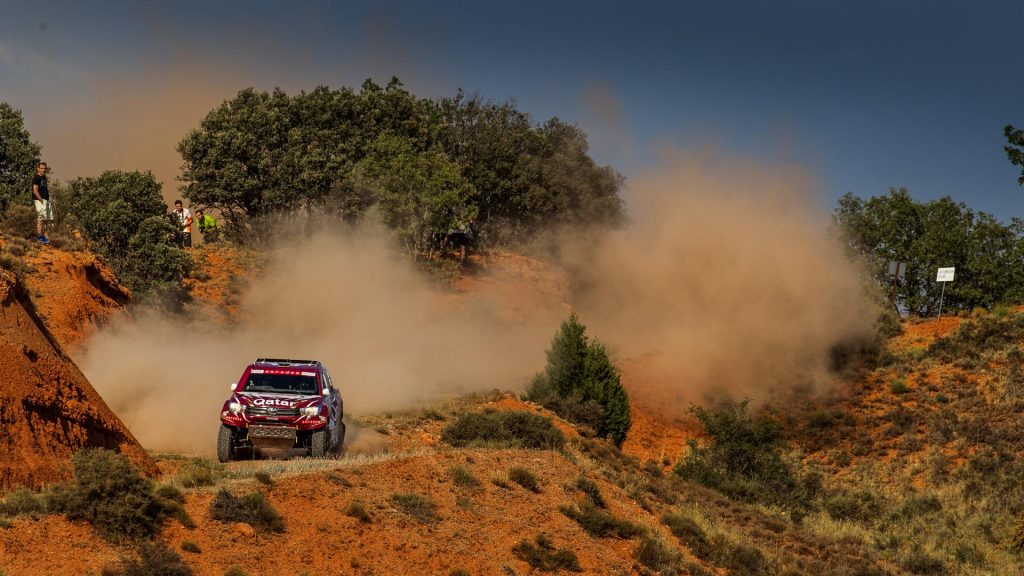 Qatar's Nasser Saleh Al-Attiyah in action in Spain with Overdrive Racing_