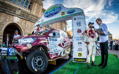 Nasser Saleh Al-Attiyah at the start of Baja Poland.