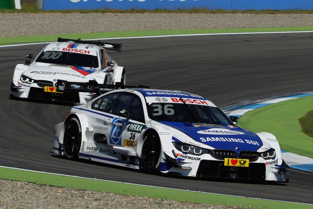 Hockenheim (DE) 07th May 2016. BMW Motorsport, Race 01, Maxime Martin (BE) SAMSUNG BMW M4 DTM and Martin Tomczyk (DE) BMW M Performance Parts M4 DTM.