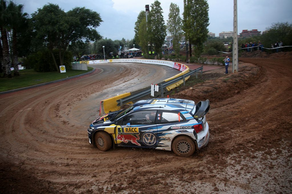 20161013: Salou-Spain: Volkswagen team in action with there Polo R WRC at the shakedown of Rally Catalunya, the 11° round of the World Rally Championship 2016, Thursday 13 October near, Salou-Spain