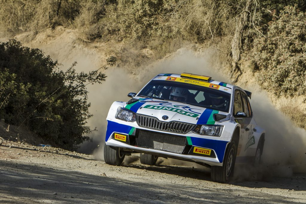 05 GRIEBEL Marijan and WINKLHOFER Pirmin SKODA FABIA R5 action during the 2016 European Rally Championship ERC Cyprus Rally, from october 7 to 9 at Nicosie, Cyprus - Photo Thomas Fenetre / DPPI